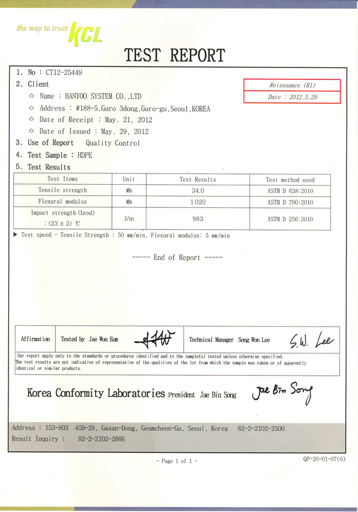 Certification – 한유씨스템주식회사-HANYOO SYSTEM CO ,LTD